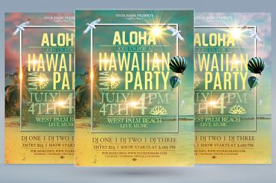 Hawaiian Beach Party Flyer