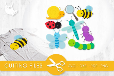 Little Bugs SVG, PNG, EPS, DXF, cut file