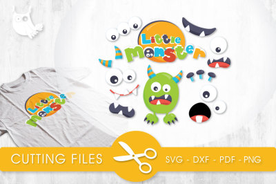Little Monster Parts SVG, PNG, EPS, DXF, cut file