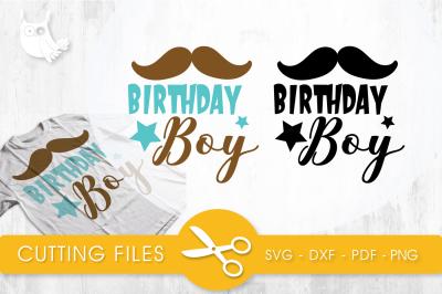 Birthday boy SVG, PNG, EPS, DXF, cut file