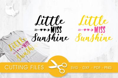 Little miss sunshine SVG, PNG, EPS, DXF, cut file