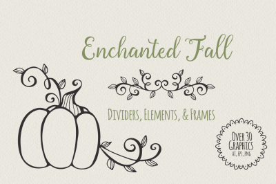 Enchanted Fall Dividers, Elements, & Frames