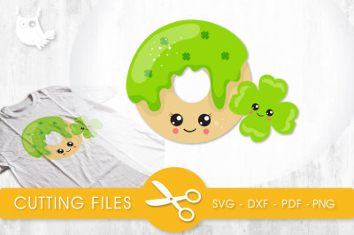 Lucky donut SVG, PNG, EPS, DXF, cut file