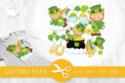 Lucky Leprechauns SVG, PNG, EPS, DXF, cut file