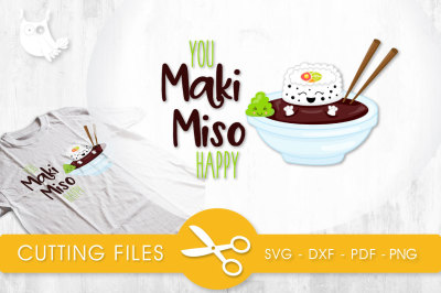 Maki Miso Happy SVG, PNG, EPS, DXF, cut file