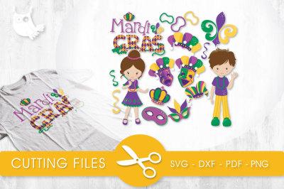 Mardi Gras Celebration SVG, PNG, EPS, DXF, cut file