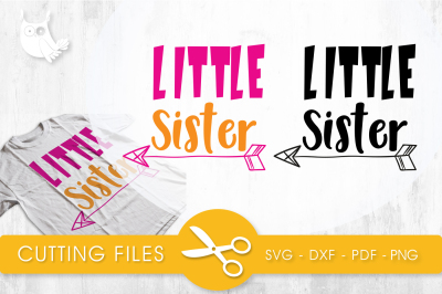 Little sister  SVG, PNG, EPS, DXF, cut file