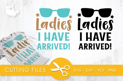Ladies i have arrived SVG, PNG, EPS, DXF, cut file