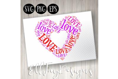 Love Heart Wordart