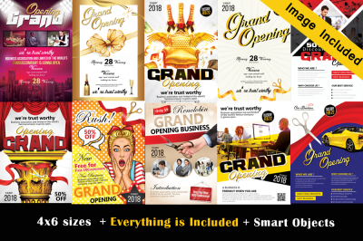 10 Grand Opening Flyer Bundle Vol: 02