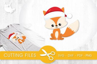 Santa Fox  SVG, PNG, EPS, DXF, cut file