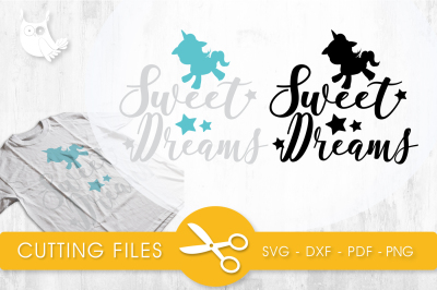 Sweet dreams SVG, PNG, EPS, DXF, cut file