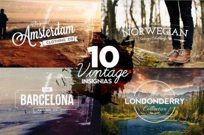 10 Vintage Logos & Textures