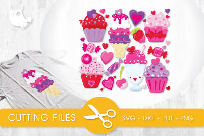 Sweet Treats SVG, PNG, EPS, DXF, cut file