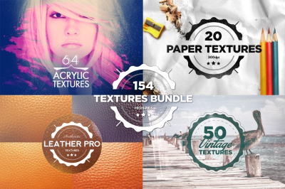 154 Textures Mega Bundle