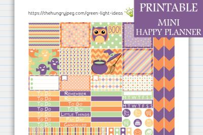 Halloween MINI Happy Planner Stickers