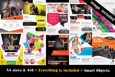 10 Fitness Flyer Bundle Vol:01