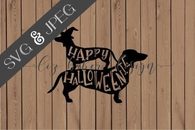 Happy Halloweenie Cut File SVG JPEG
