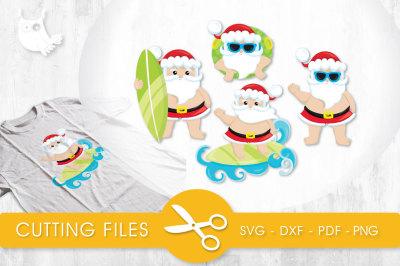 Tropical Santa SVG, PNG, EPS, DXF, cut file