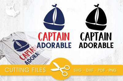 Captain adorable SVG, PNG, EPS, DXF, cut file