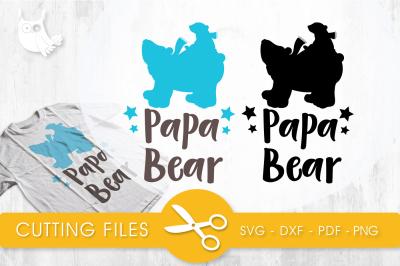 Papa bear  SVG, PNG, EPS, DXF, cut file