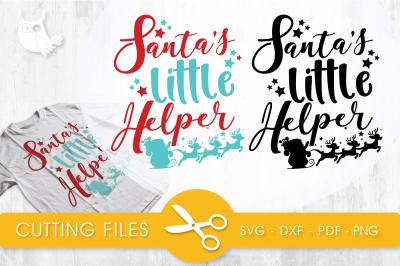 Santa's little helper SVG, PNG, EPS, DXF, cut file