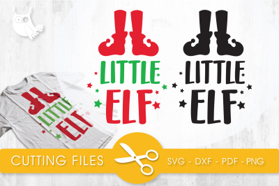 Little elf  SVG, PNG, EPS, DXF, cut file