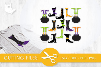 Witch Boots  SVG, PNG, EPS, DXF, cut file