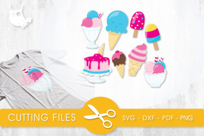 Yummy Ice Cream  SVG, PNG, EPS, DXF, cut file