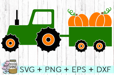 Fall Tractor SVG PNG DXF EPS Cutting Files
