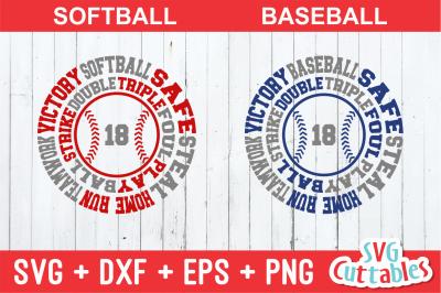 Baseball / Softball round subway art