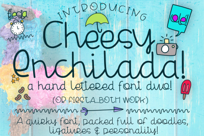 Cheesy Enchilada Font Duo-On Sale!