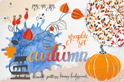 Autumn. Graphic collection.