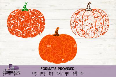 Paisley Pumpkin - SVG DXF EPS PNG PDF JPG AI - cutting file