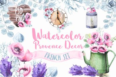 Watercolor Provence decor