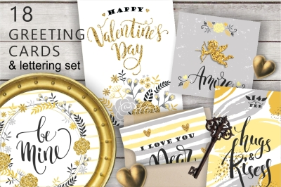 18 greeting cards Valentine's Day