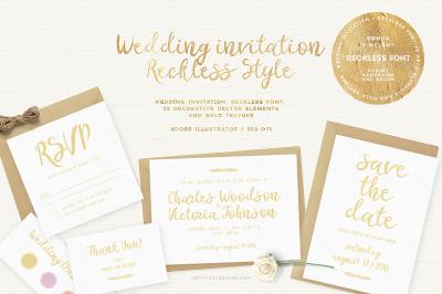 Wedding Invitation - Reckless Style