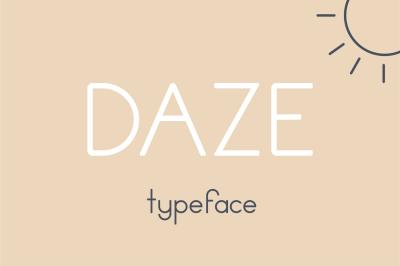 Daze Typeface