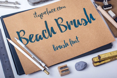 Beach Brush Font