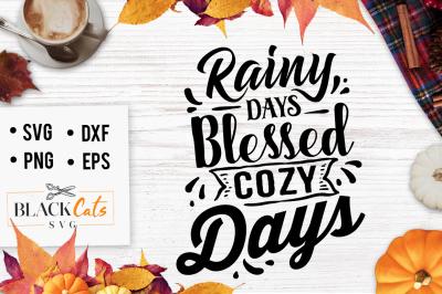 Rainy days SVG