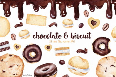 Chocolate & Biscuits clipart