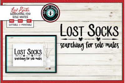 Lost Socks Searching for Sole Mates | SVG Cut File