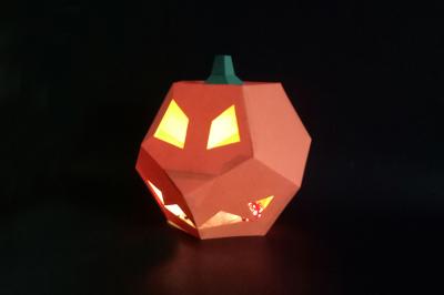DIY  Pumpkin Lamp - 3d papercraft