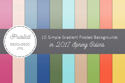 Spring 2017 Simple Gradient Frosted