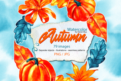 Watercolor autumn illustrations