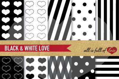 Love Backgrounds in Black & White
