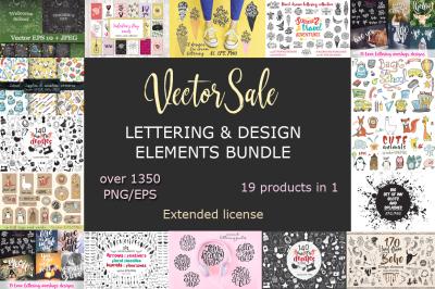 Vector Graphic Sale Hand drawn Bundle 70%OFF!!!