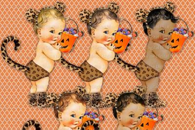 Vintage Baby Boy Leopard Halloween