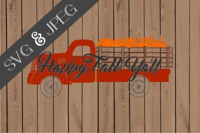 Happy Fall Ya'll Vintage Truck