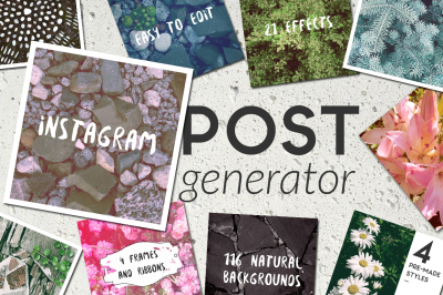 Natural Background Instagram Post Generator